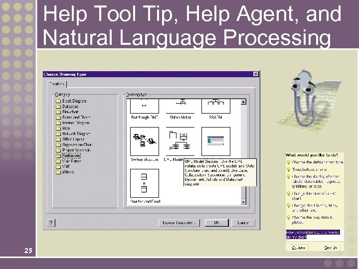 Help Tool Tip, Help Agent, and Natural Language Processing 25