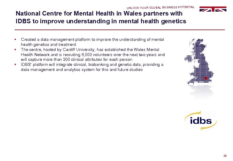 UNLOCK YOUR GLOBAL BUSINESS POTENTIAL National Centre for Mental Health in Wales partners with
