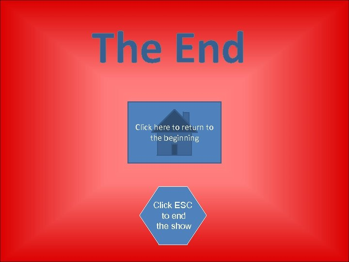 The End Click here to return to the beginning Click ESC to end the