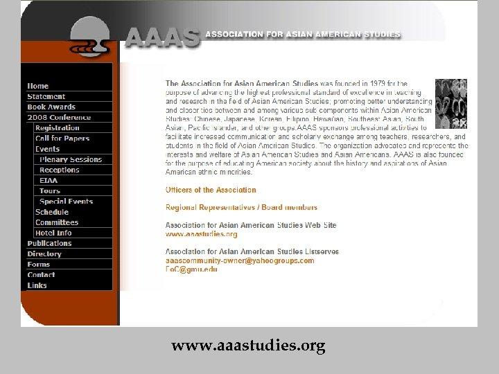 www. aaastudies. org