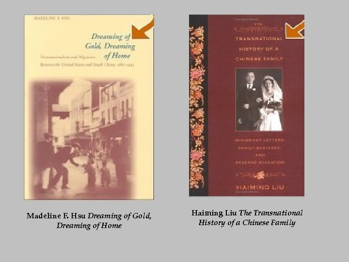 Madeline F. Hsu Dreaming of Gold, Dreaming of Home Haiming Liu The Transnational History