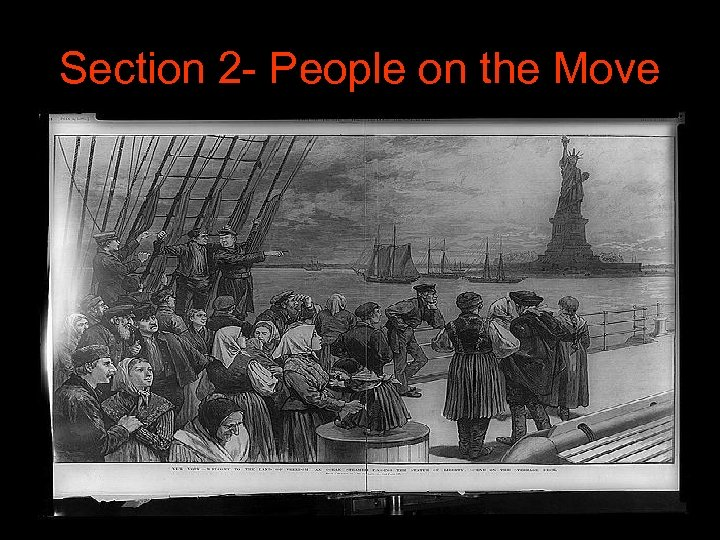Section 2 - People on the Move