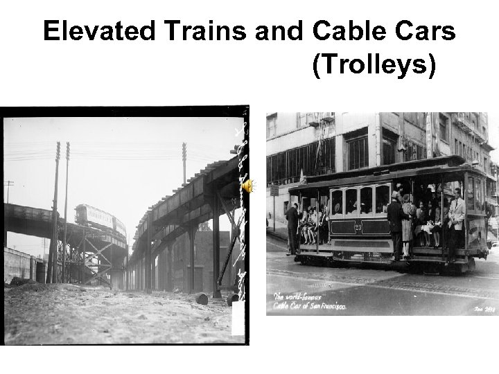 Elevated Trains and Cable Cars (Trolleys)