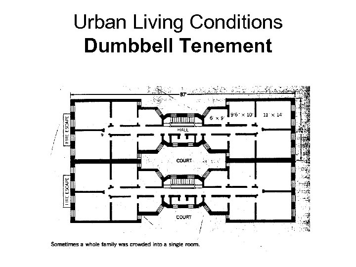 Urban Living Conditions Dumbbell Tenement