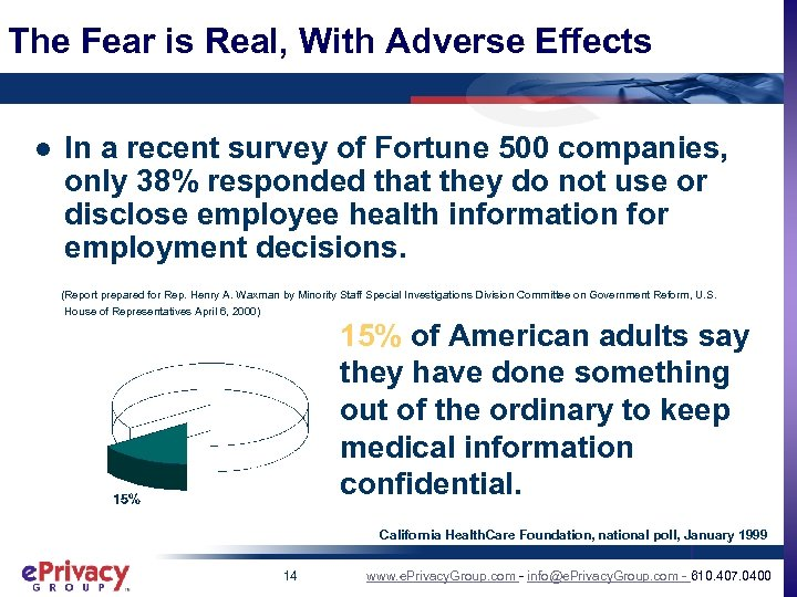 The Fear is Real, With Adverse Effects l In a recent survey of Fortune