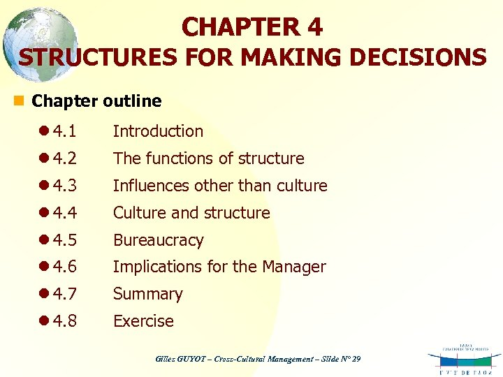 CHAPTER 4 STRUCTURES FOR MAKING DECISIONS n Chapter outline l 4. 1 Introduction l
