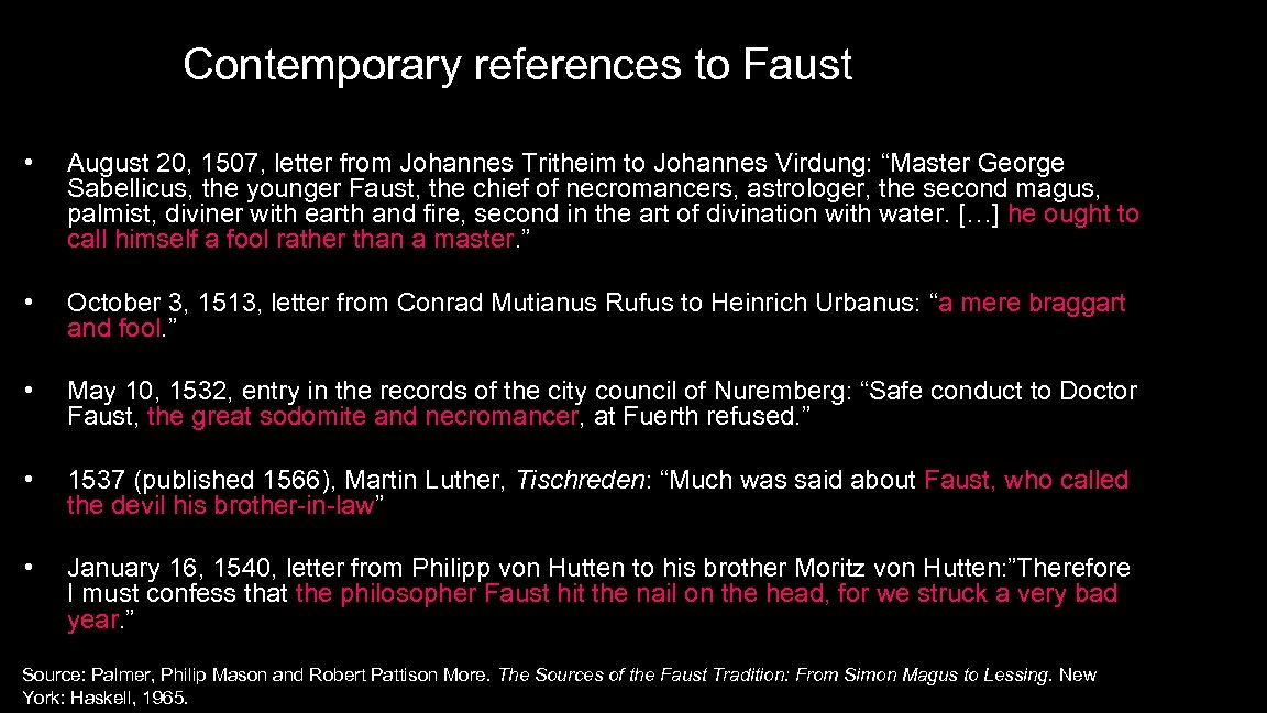 Contemporary references to Faust • August 20, 1507, letter from Johannes Tritheim to Johannes