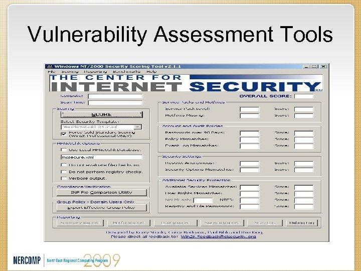Vulnerability Assessment Tools