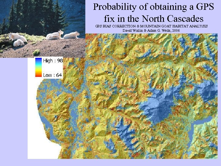 Probability of obtaining a GPS fix in the North Cascades GPS BIAS CORRECTION &