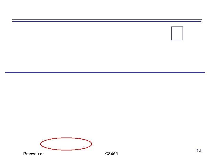 Procedures CS 465 10
