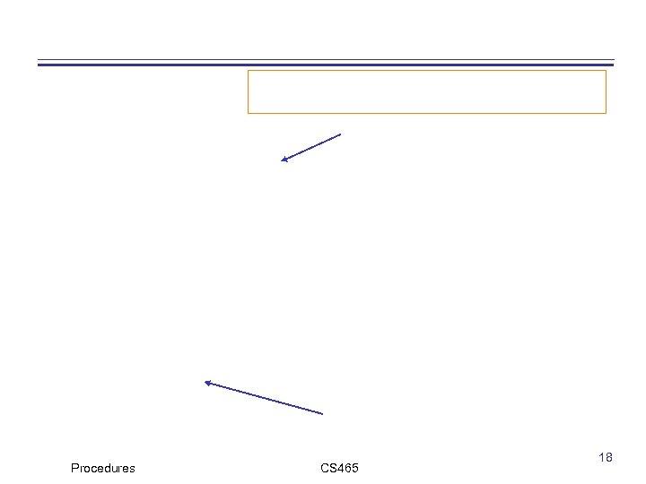 Procedures CS 465 18