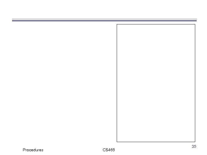Procedures CS 465 35