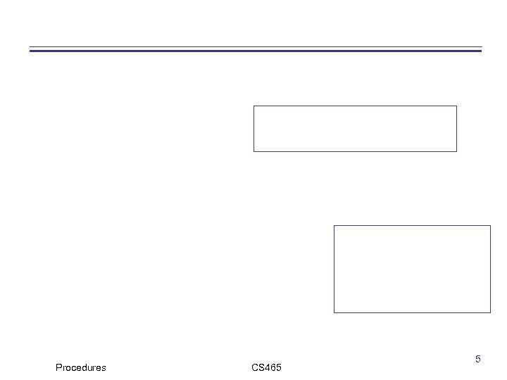 Procedures CS 465 5