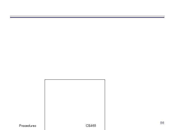 Procedures CS 465 56
