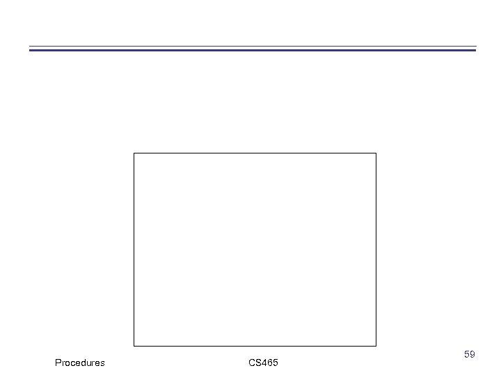 Procedures CS 465 59