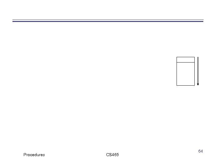 Procedures CS 465 64