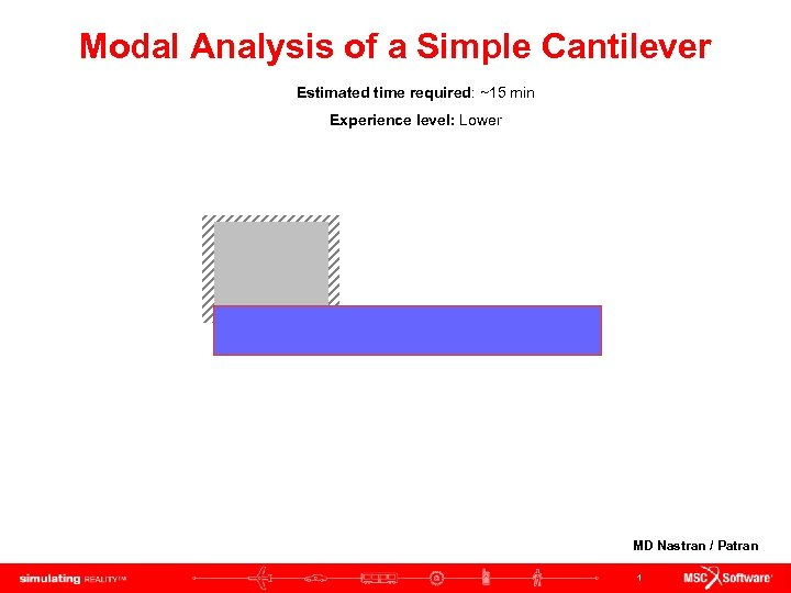 Modal Analysis of a Simple Cantilever Estimated time required: ~15 min Experience level: Lower