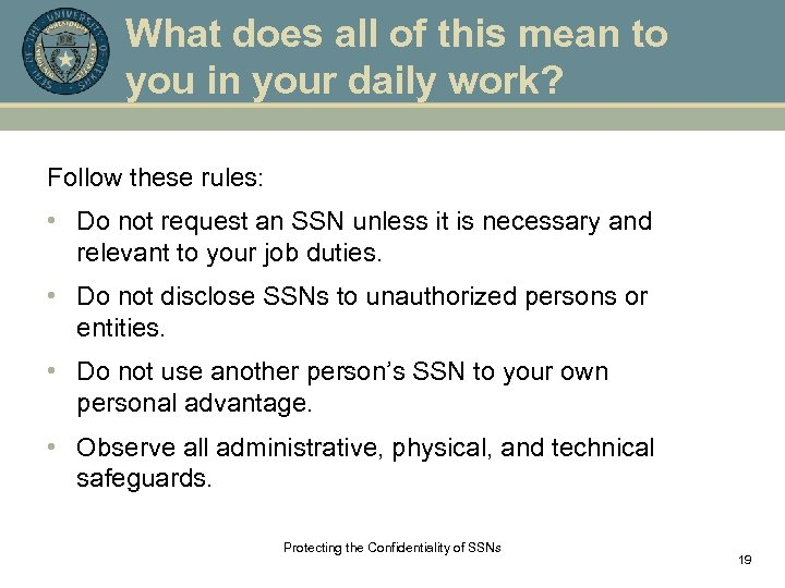 What does all of this mean to you in your daily work? Follow these