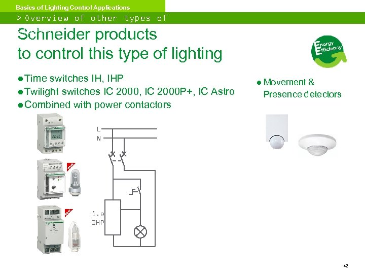 Basics of Lighting Control Applications > Overview of other types of lighting Schneider products