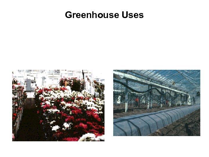 Greenhouse Uses