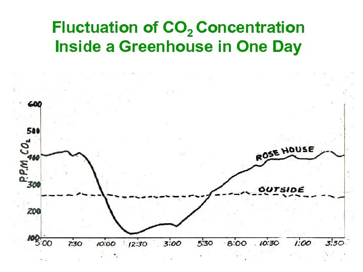 Fluctuation of CO 2 Concentration Inside a Greenhouse in One Day