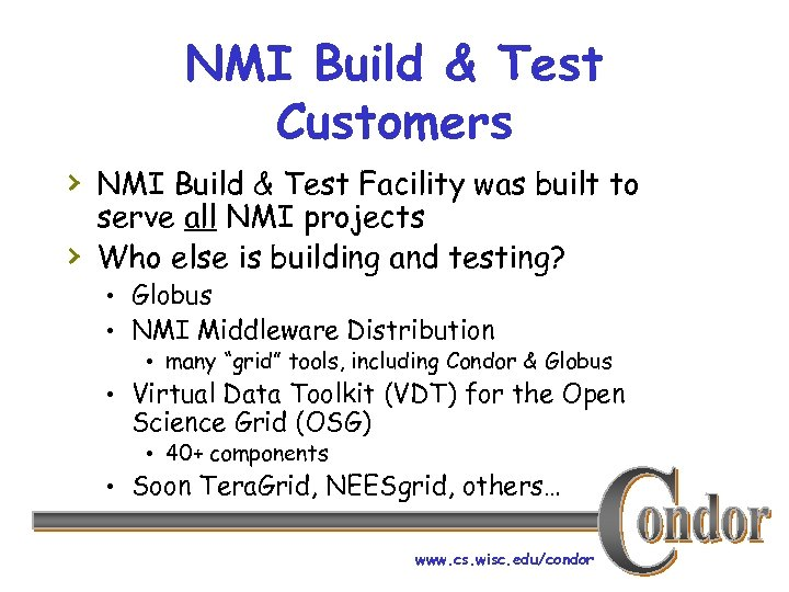 NMI Build & Test Customers › NMI Build & Test Facility was built to