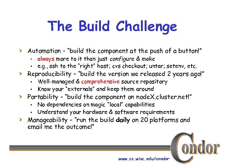"The Build Challenge › Automation - ""build the component at the push of a"