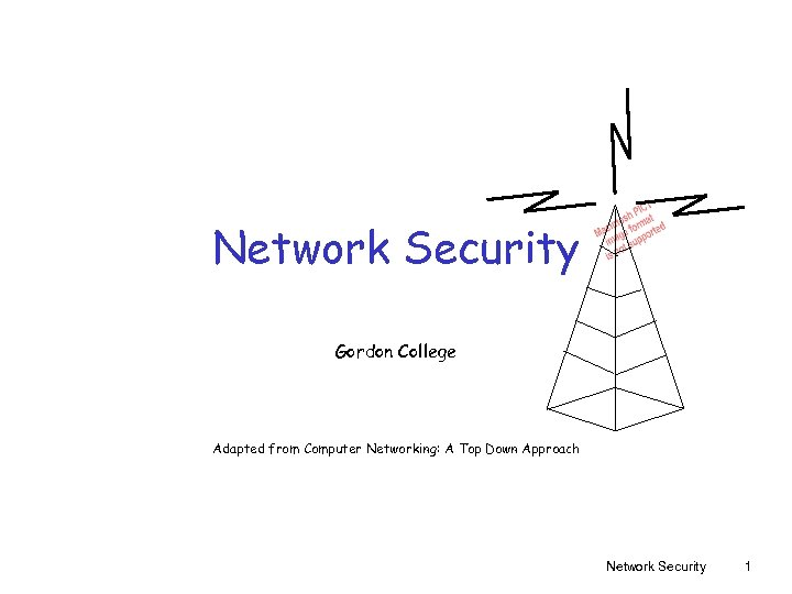 Network Security Gordon College Adapted from Computer Networking: A Top Down Approach Network Security