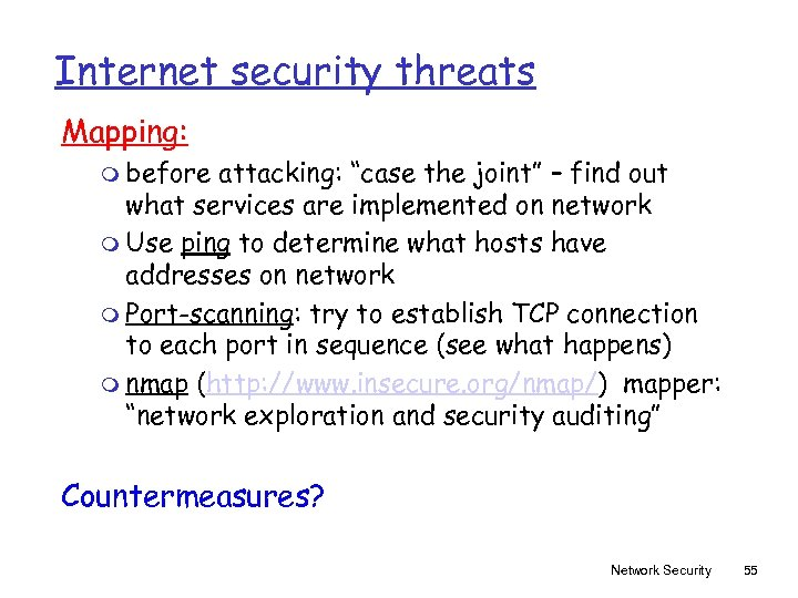 """Internet security threats Mapping: m before attacking: """"case the joint"""" – find out what"""