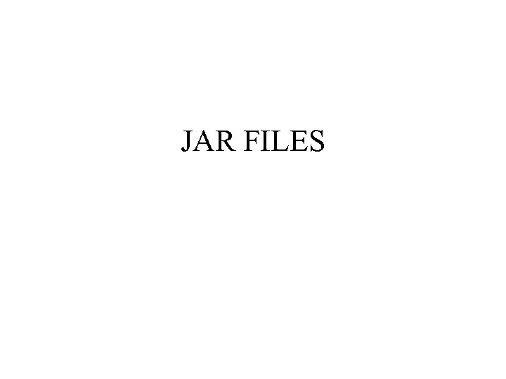 JAR FILES