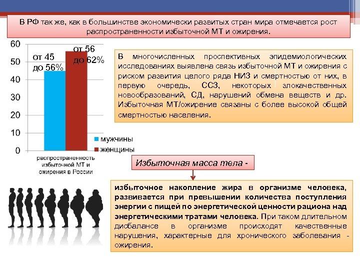 В РФ так же, как в большинстве экономически развитых стран мира отмечается рост распространенности