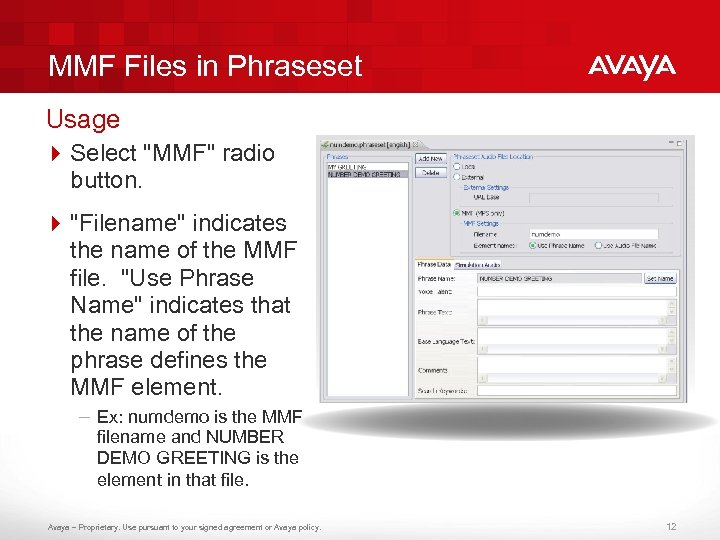 MMF Files in Phraseset Usage 4 Select