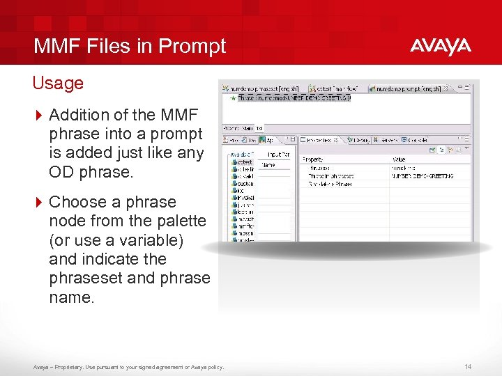 MMF Files in Prompt Usage 4 Addition of the MMF phrase into a prompt