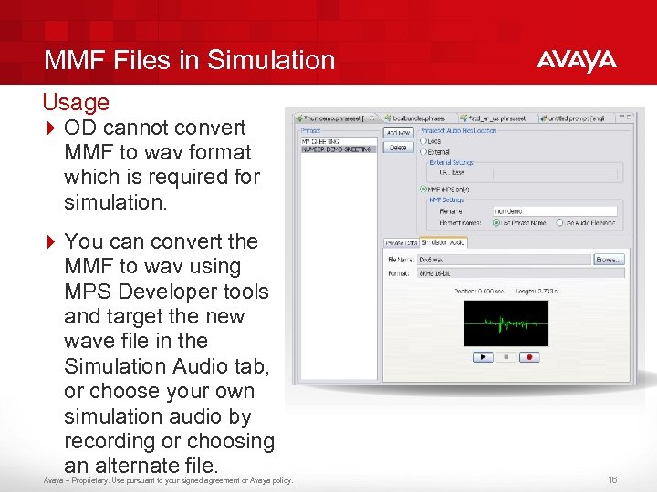 MMF Files in Simulation Usage 4 OD cannot convert MMF to wav format which