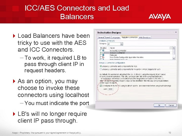 ICC/AES Connectors and Load Balancers 4 Load Balancers have been tricky to use with