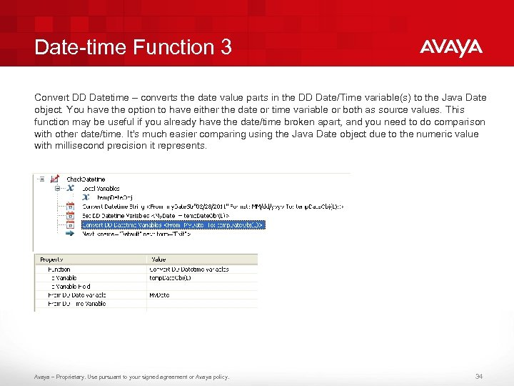 Date-time Function 3 Convert DD Datetime – converts the date value parts in the