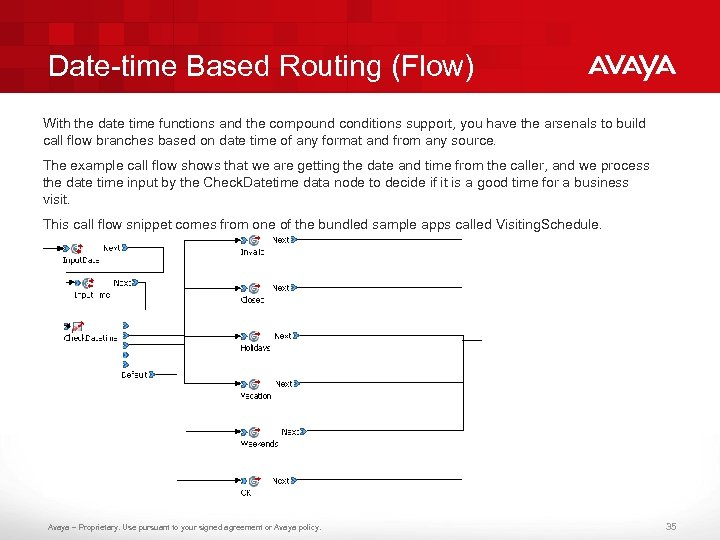 Date-time Based Routing (Flow) With the date time functions and the compound conditions support,
