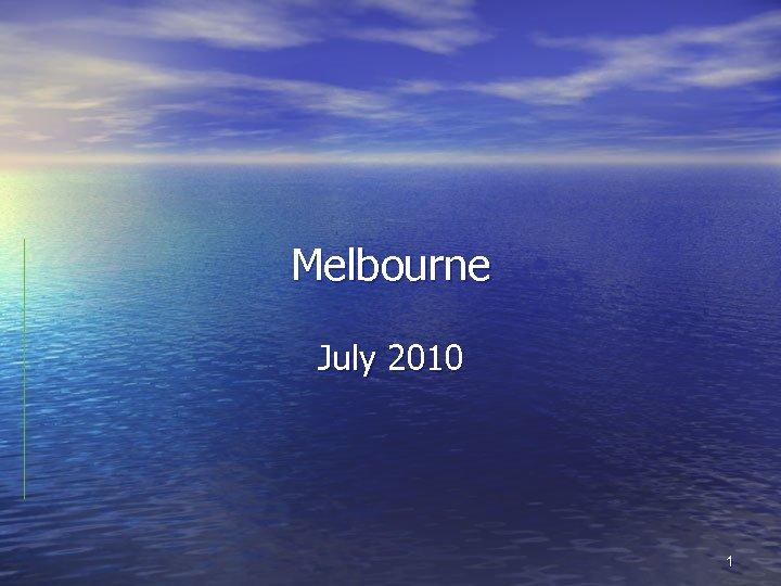 Melbourne July 2010 1
