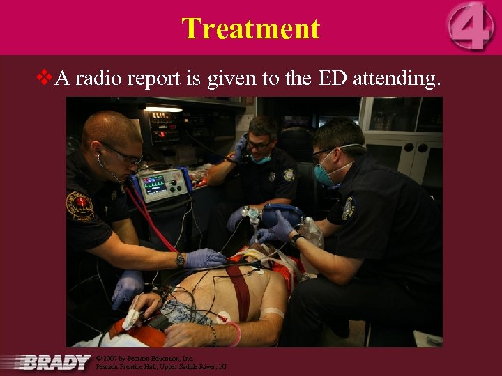 Treatment v. A radio report is given to the ED attending. 16 March 2018