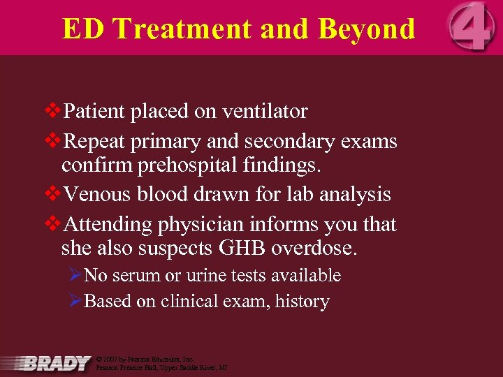 ED Treatment and Beyond v. Patient placed on ventilator v. Repeat primary and secondary
