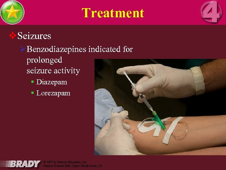 Treatment v. Seizures ØBenzodiazepines indicated for prolonged seizure activity § Diazepam § Lorezapam 16