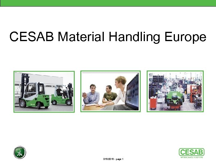 CESAB Material Handling Europe 3/18/2018 - page 1