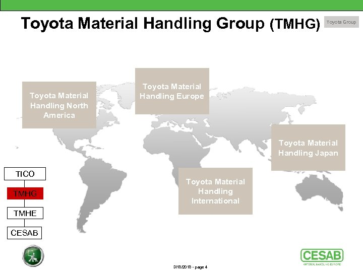 Toyota Material Handling Group (TMHG) Toyota Material Handling North America Toyota Group Toyota Material