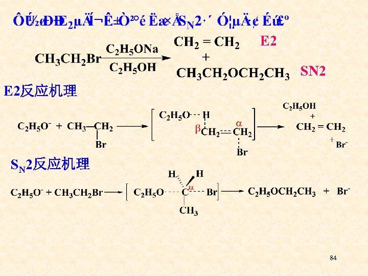 E 2 SN 2 E 2反应机理 SN 2反应机理 84