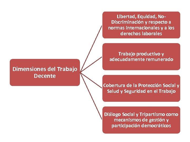 Libertad, Equidad, No. Discriminación y respecto a normas internacionales y a los derechos laborales