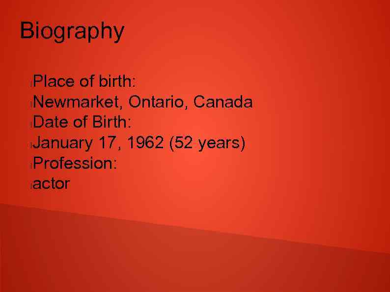 Jim Carrey Biography Place of birth l