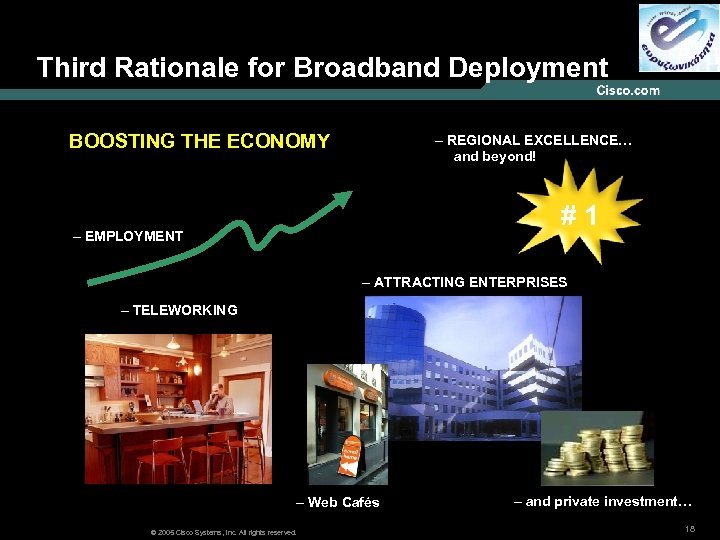 Third Rationale for Broadband Deployment BOOSTING THE ECONOMY – REGIONAL EXCELLENCE… and beyond! #
