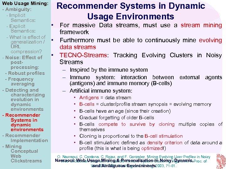 Web Usage Mining: - Ambiguity: - Implicit Semantics: - Explicit Semantics: - What is