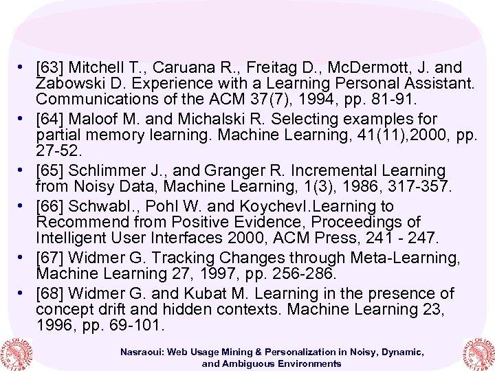 • [63] Mitchell T. , Caruana R. , Freitag D. , Mc. Dermott,