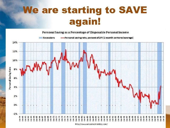 We are starting to SAVE again!